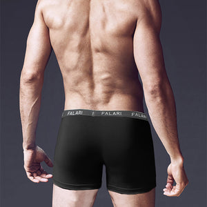 Falari Men's 4-Pack Bamboo Rayon Ultra Soft Lightweight Breathable Boxer Briefs Underwear