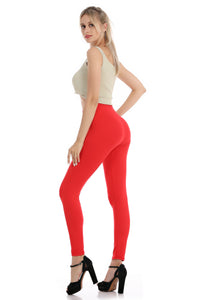 Falari Classic Leggings - Red