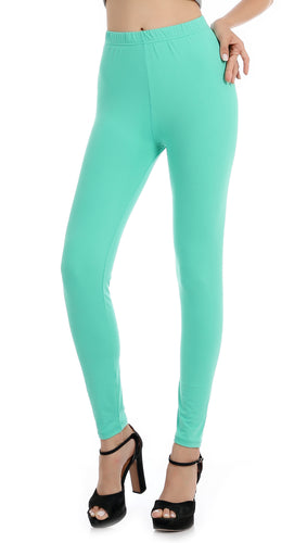 Falari Classic Leggings - Tiffany Green