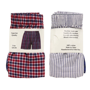 Falari 4-Pack Men's Boxer Underwear 100% Cotton Premium Quality 368-01