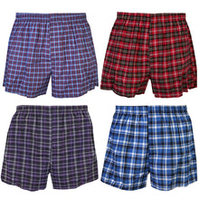 Load image into Gallery viewer, Falari 4-Pack Men's Boxer Underwear 100% Cotton Premium Quality 368-04