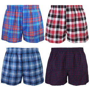 Falari 4-Pack Men's Boxer Underwear 100% Cotton Premium Quality 368-07