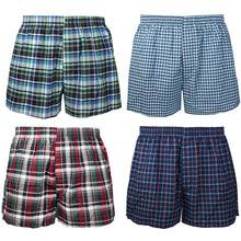 Load image into Gallery viewer, Falari 4-Pack Men's Boxer Underwear 100% Cotton Premium Quality 368-08