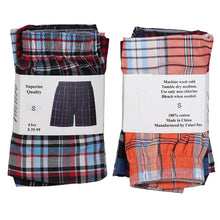 Load image into Gallery viewer, Falari 4-Pack Men's Boxer Underwear 100% Cotton Premium Quality 368-09