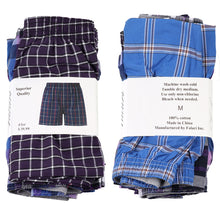 Load image into Gallery viewer, Falari 4-Pack Men's Boxer Underwear 100% Cotton Premium Quality 368-40