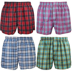 Falari 4-Pack Men's Boxer Underwear 100% Cotton Premium Quality 368-42