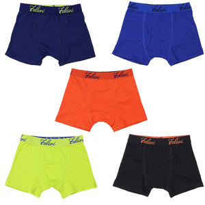 Falari 5-Pack Boy's Boxer Brief Underwear Cotton Ultimate ComfortSoft Premium Quality