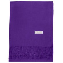 Load image into Gallery viewer, Women's Soft Solid Color Pashmina Shawl Wrap Scarf - Violet Purple