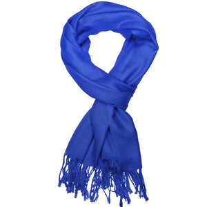 Women's Soft Solid Color Pashmina Shawl Wrap Scarf - Royal