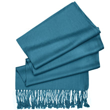 Load image into Gallery viewer, Women's Soft Solid Color Pashmina Shawl Wrap Scarf - Teal Blue