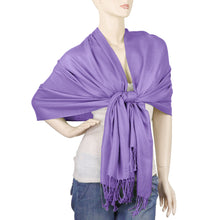 Load image into Gallery viewer, Women's Soft Solid Color Pashmina Shawl Wrap Scarf - Lavender