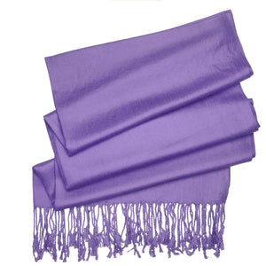 Women's Soft Solid Color Pashmina Shawl Wrap Scarf - Lavender