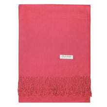 Load image into Gallery viewer, Women's Soft Solid Color Pashmina Shawl Wrap Scarf - Coral Pink