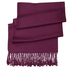 Load image into Gallery viewer, Women's Soft Solid Color Pashmina Shawl Wrap Scarf - Wine