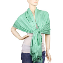 Load image into Gallery viewer, Women's Soft Solid Color Pashmina Shawl Wrap Scarf - Mint