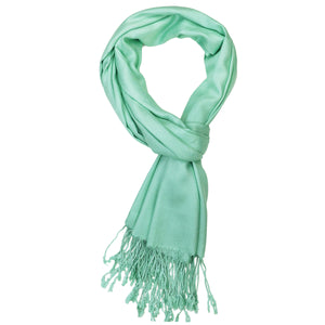Women's Soft Solid Color Pashmina Shawl Wrap Scarf - Mint