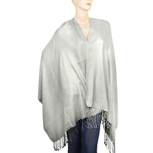 Load image into Gallery viewer, Women's Soft Solid Color Pashmina Shawl Wrap Scarf - Silver Grey
