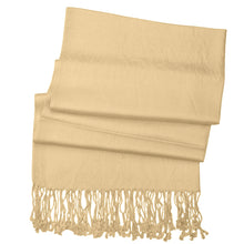 Load image into Gallery viewer, Women's Soft Solid Color Pashmina Shawl Wrap Scarf - Champagne