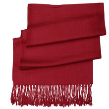Load image into Gallery viewer, Women's Soft Solid Color Pashmina Shawl Wrap Scarf - Burgundy
