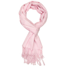 Load image into Gallery viewer, Women's Soft Solid Color Pashmina Shawl Wrap Scarf - Pink