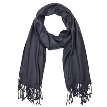 Load image into Gallery viewer, Women's Soft Solid Color Pashmina Shawl Wrap Scarf - Charcoal Grey