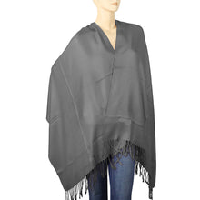 Load image into Gallery viewer, Women's Soft Solid Color Pashmina Shawl Wrap Scarf - Dark Grey
