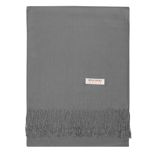 Women's Soft Solid Color Pashmina Shawl Wrap Scarf - Dark Grey