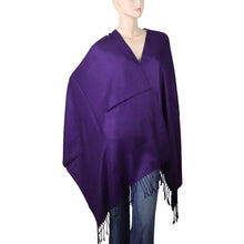 Load image into Gallery viewer, Women's Soft Solid Color Pashmina Shawl Wrap Scarf - Dark Purple