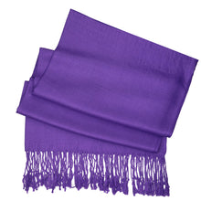 Load image into Gallery viewer, Women's Soft Solid Color Pashmina Shawl Wrap Scarf - Eggplant Purple