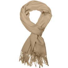 Load image into Gallery viewer, Women's Soft Solid Color Pashmina Shawl Wrap Scarf - Camel