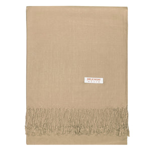Women's Soft Solid Color Pashmina Shawl Wrap Scarf - Camel