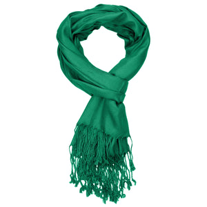Women's Soft Solid Color Pashmina Shawl Wrap Scarf - Irish Green