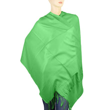 Load image into Gallery viewer, Women's Soft Solid Color Pashmina Shawl Wrap Scarf - Spring Apple Green