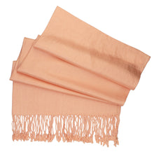 Load image into Gallery viewer, Women's Soft Solid Color Pashmina Shawl Wrap Scarf - Peach