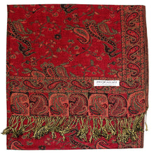 Load image into Gallery viewer, Women's Paisley Pashmina Scarf - Red