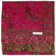 Load image into Gallery viewer, Women's Paisley Pashmina Scarf - Fuchsia