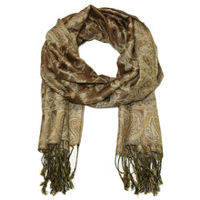Load image into Gallery viewer, Women's Paisley Pashmina Scarf - Beige