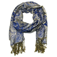 Load image into Gallery viewer, Women's Paisley Pashmina Scarf - Royal