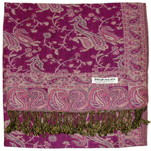 Load image into Gallery viewer, Women's Paisley Pashmina Scarf - Violet