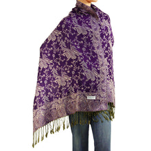 Load image into Gallery viewer, Women's Paisley Pashmina Scarf - Purple