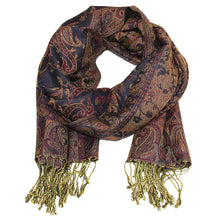 Load image into Gallery viewer, Women's Paisley Pashmina Scarf - Eggplant Purple