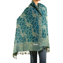 Load image into Gallery viewer, Women's Paisley Pashmina Scarf - Teal