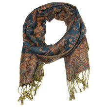 Load image into Gallery viewer, Women's Paisley Pashmina Scarf - Cyan