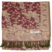 Load image into Gallery viewer, Women's Paisley Pashmina Scarf - Pink