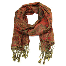 Load image into Gallery viewer, Women's Paisley Pashmina Scarf - Grey