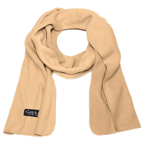 Men Women Fleece Scarf - Beige