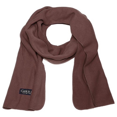 Men Women Fleece Scarf - Brown