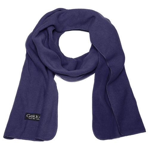 Men Women Fleece Scarf - Navy