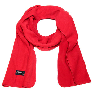 Men Women Fleece Scarf - Red
