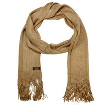 Load image into Gallery viewer, Men Solid Knitted Winter Scarf - Beige
